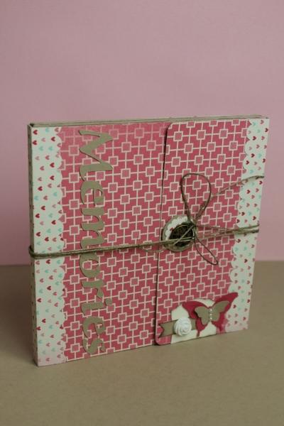 Minialbum/Fotoalbum, Bild1, gebastelt mit Produkten, Stanzen und Stempeln von Stampin\' Up!