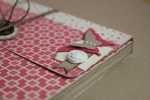 Minialbum/Fotoalbum, Bild3, gebastelt mit Produkten, Stanzen und Stempeln von Stampin\' Up!