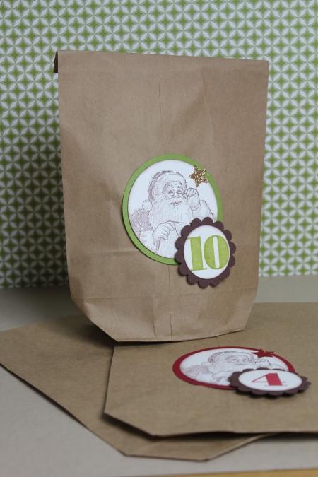 Adventskalendertüten, Bild1, Basteln mit Stampin\' Up!