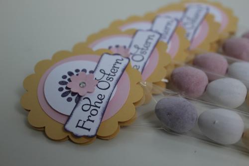 Kleine Geschenke zu Ostern, Ostereier schön verpackt, Bild 1, gebastelt mit Produkten, Stempeln und Stanzen von Stampin\' Up!
