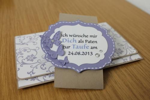 Einladung zu Taufe,Kartenauftrag, Bild6, gebastelt mit Produkten, Stanzen und Stempeln von Stampin\' Up!