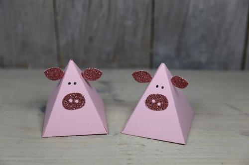 Schweinchenverpackung, Bild1, gebastelt mit Produkten von Stampin\' Up!