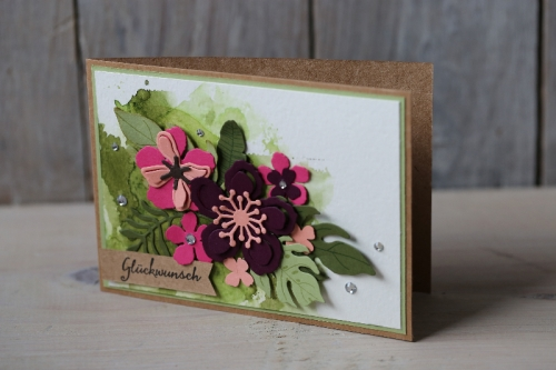 Glückwunschkarte Botanical Blooms, Bild1, gebastelt mit Produkten von Stampin\' Up!