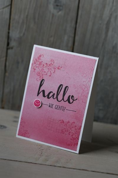 Hallo, wie gehts/Grußkarte, Bild1, gebastelt mit Produkten von Stampin\' Up!