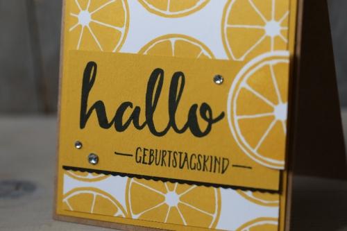 Zitronenkarte, Bild3, gebastelt mit Produkten von Stampin\' Up!.