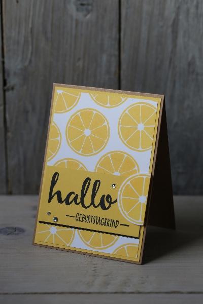 Zitronenkarte, Bild2 gebastelt mit Produkten von Stampin\' Up!.