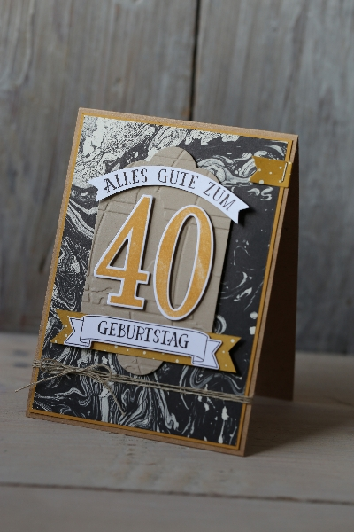 Männerkarte 40. Geburtstag, Bild1, gebastelt mit Produkten von Stampin\' Up!