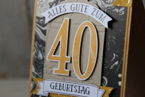 Männerkarte 40. Geburtstag, Bild3, gebastelt mit Produkten von Stampin\' Up!