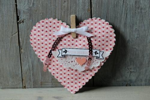 Valentinstagsherz, Bild1, gebastelt mit Produkten von Stampin\' Up!