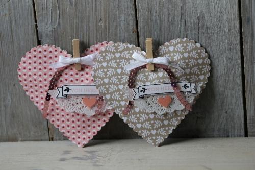 Valentinstagsherz, Bild2, gebastelt mit Produkten von Stampin\' Up!