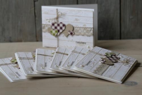 Hochzeitskarte, Karierte Herzen, Bild1, gebastelt mit Produkten von Stampin\' Up!
