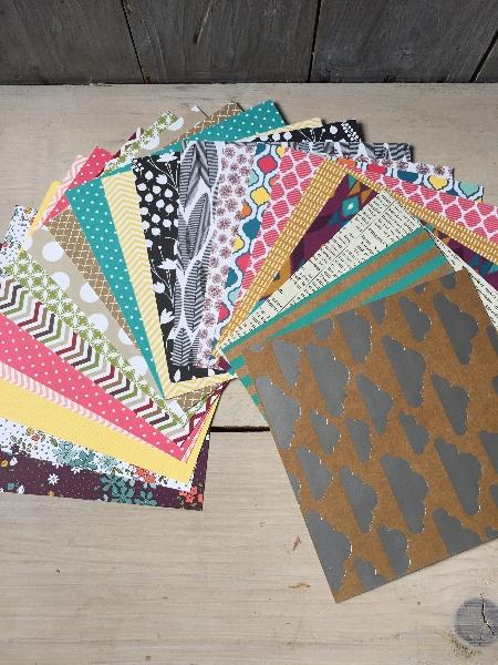 Gemischtes Designerpapier in Tüten, gebastelt mit Produkten von Stampin\' Up!