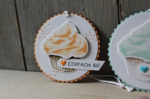 Geschenkanhänger Cupcake, Bild, gebastelt mit Produkten von Stampin\' Up!
