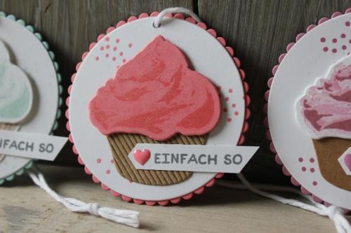 Geschenkanhänger Cupcake, Bild3, gebastelt mit Produkten von Stampin\' Up!