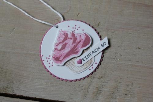 Geschenkanhänger Cupcake, Bild4, gebastelt mit Produkten von Stampin\' Up!
