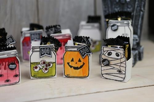 Einmachglas Halloween, Bild2, mit Produkten von Stampin\' Up!