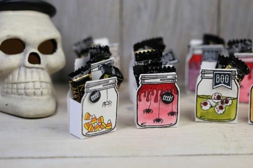 Einmachglas Halloween, Bild3, mit Produkten von Stampin\' Up!