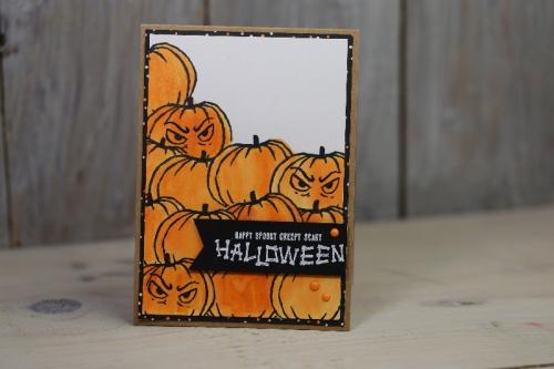 Halloweenkarte, Bild1, basteln mit Stampin\' Up!