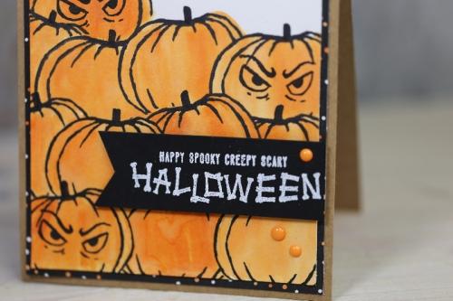 Halloweenkarte, Bild2, basteln mit Stampin\' Up!