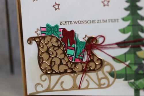 Weihnachtskarte Weihnachtsschlitten, Bild2 gebastelt mit Produkten von Stampin\' Up!