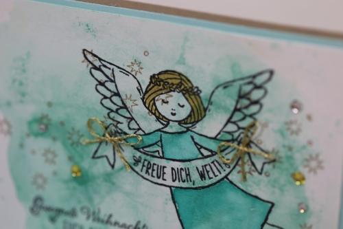 Weihnachtskarte Engel, Bild3, gebastelt mit Produkten von Stampin\' Up!