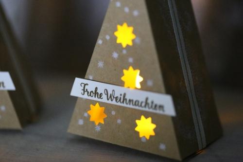 Freitagsvideo Tannenbaum mit Teelicht, Bild2,gebastelt mit Produkten von Stampin\' Up!