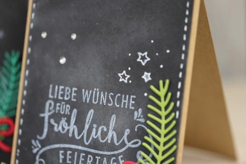 Weihnachtskarte Chalkboard-Technik, Bild3, gebastelt mit Produkten von Stampin\' Up!