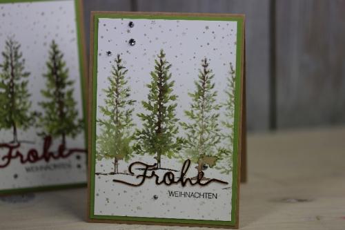 Weihnachtskarte Lovely as a Tree, Bild1, gebastelt mit Produkten von Stampin\' Up!