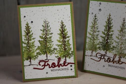 Weihnachtskarte Lovely as a Tree, Bild2 gebastelt mit Produkten von Stampin\' Up!