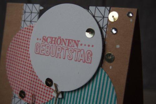 Geburtstagskarte Luftballons, Bild2, gebastelt mit Produkten von Stampin' Up!