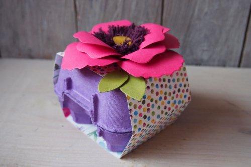 Osterdeko mit Stanze Bouquet, Bild1, gebastelt mit Produkten von Stampin' Up!