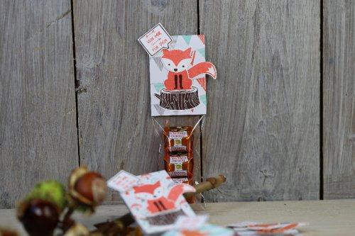 Ferrero Küsschen Verpackung mit Fuchsen, Bild3, mit Produkten von Stampin' Up!