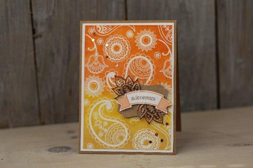Geburtstagskarte Paisleys & Posies, Bild1,  mit Produkten von Stampin' Up!