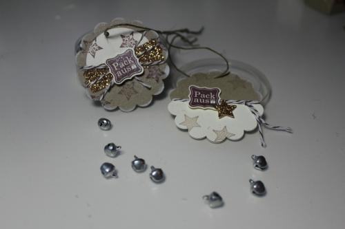 Geschenkanhänger, gebastelt mit Produkten, Stempeln und Stanzen von Stampin\' Up!