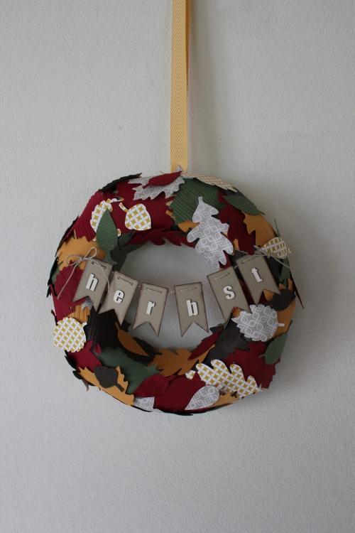 Herbstkranz, Bild2, gebastelt mit Produkten von Stampin\' Up!