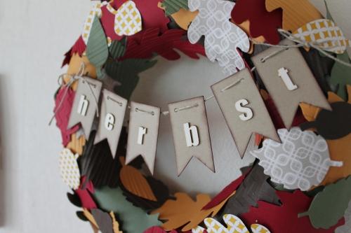 Herbstkranz, Bild3, gebastelt mit Produkten von Stampin\' Up!