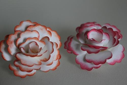Selbstgebastelte Blumen mit der Blumenstanze, gebastelt mit Produkten, Stempeln und Stanzen von Stampin\' Up!