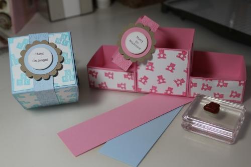 Boxen zur Geburt für Jungen und Mädchen - Ein praktisches Geschenk für den Familienzuwachs, gebastelt mit Produkten, Stempeln und Stanzen von Stampin\' Up!