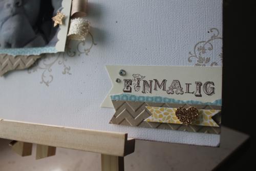Scrapbookseite/Layout Babyfoto, Bild 3, gebastelt mit Produkten, Stempeln und Stanzen von Stampin\' Up!