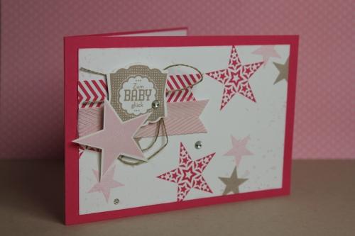 Babykarte Simply Star, Bild 1, gebastelt mit Produkten von Stampin\' Up!