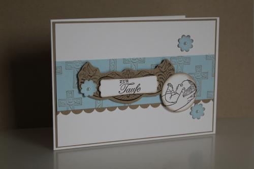 Grußkarte zur Taufe für Junge mit dem Stempelset