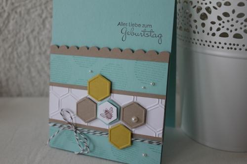 Geburtstagskarten mit der Prägeform