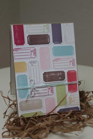 Geburtstagskarte mit der Ticket-Duo Elementstanze, Bild1, gebastelt mit Produkten, Stanzen und Stempeln von Stampin\' Up!
