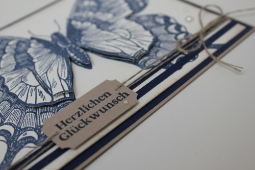 Geburtstagskarte mit dem Schmetterlingsstempel