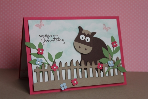 Punch Art Pferd/Horse, Bild10, gebastelt mit Produkten, Stanzen und Stempeln von Stampin\' Up!