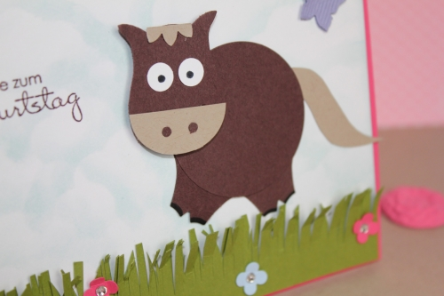 Punch Art Pferd/Horse, Bild2, gebastelt mit Produkten, Stanzen und Stempeln von Stampin\' Up!