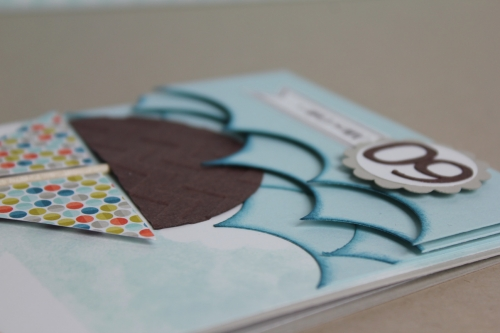 Geburtstagskarte Segelschiff, Bild3, gebastelt mit Produkten, Stanzen und Stempeln von Stampin\' Up!