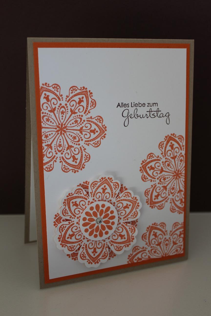 Geburtstagskarte Mixed Bunch, gebastelt mit Produkten, Stempeln und Stanzen von Stampin' Up!