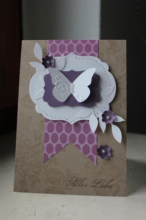 Grußkarte \'Alles Liebe\', Bild 1, zum Geburtstag, Valentinstag oder einfach nur so, gebastelt mit Produkten, Stempeln und Stanzen von Stampin\' Up!