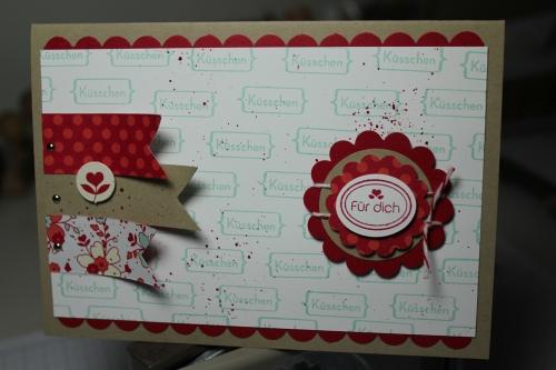 Valentinskarte mit dem Stempelset Meinem Valentinsschatz und dem simply sent Kartenset, Bild2,gebastelt mit Produkten, Stempeln und Stanzen von Stampin\' Up!